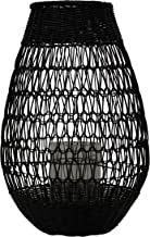 Bloomingville Black Rattan Glass Insert Lantern