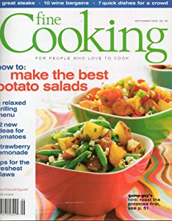 Tauton's Fine Cooking September 2006 Magazine No 80 HOW TO: MAKE THE BEST POTATO SALADS A Relaxed Grilling Menu