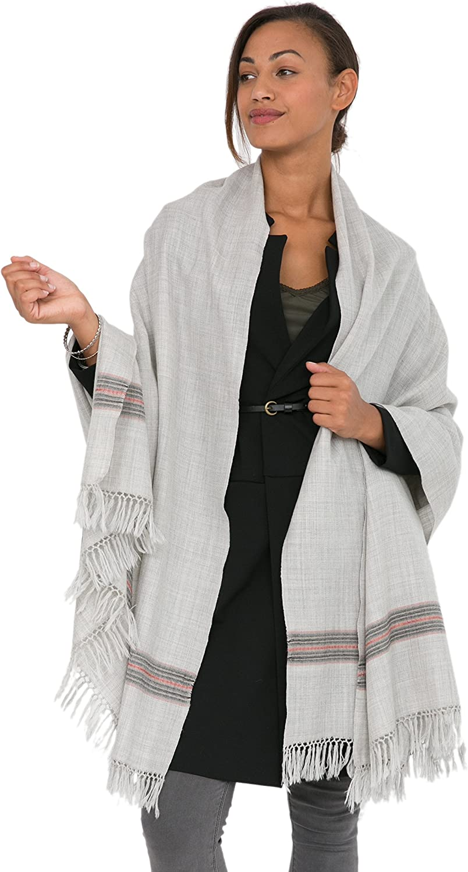 Mansi Merino Handwoven Shawl and Oversize Scarf