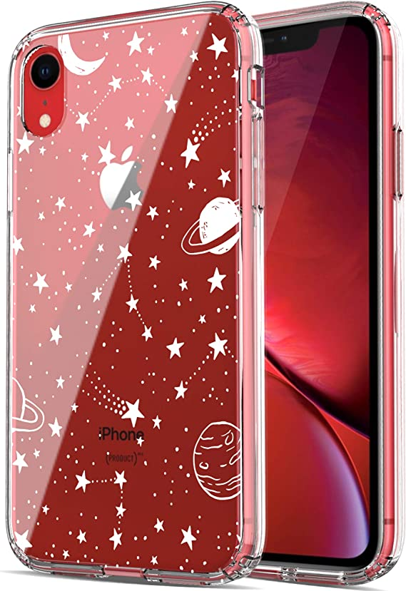 iPhone XR Case, RANZ Anti-Scratch Shockproof Series Clear Hard PC+ TPU Bumper Protective Cover Case for iPhone XR - Universe