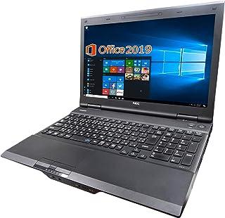 NEC ノートPC VK26/MS Office 2019/Win 10/15.6型/10キー/Core i5-4210M/DVD/16GB/512GB SSD (整備済み品)