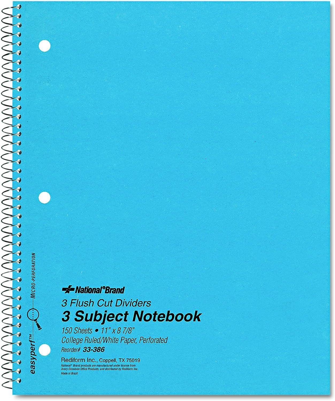 3-Subject Wirebound Notebook, College Rule, Letter, WE, 150 Sheets Pad B001601Y3U | Merkwürdige Form