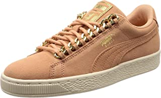 PUMA Women's Suede Classic x Chain WNS, Dusty Coral Team Gold