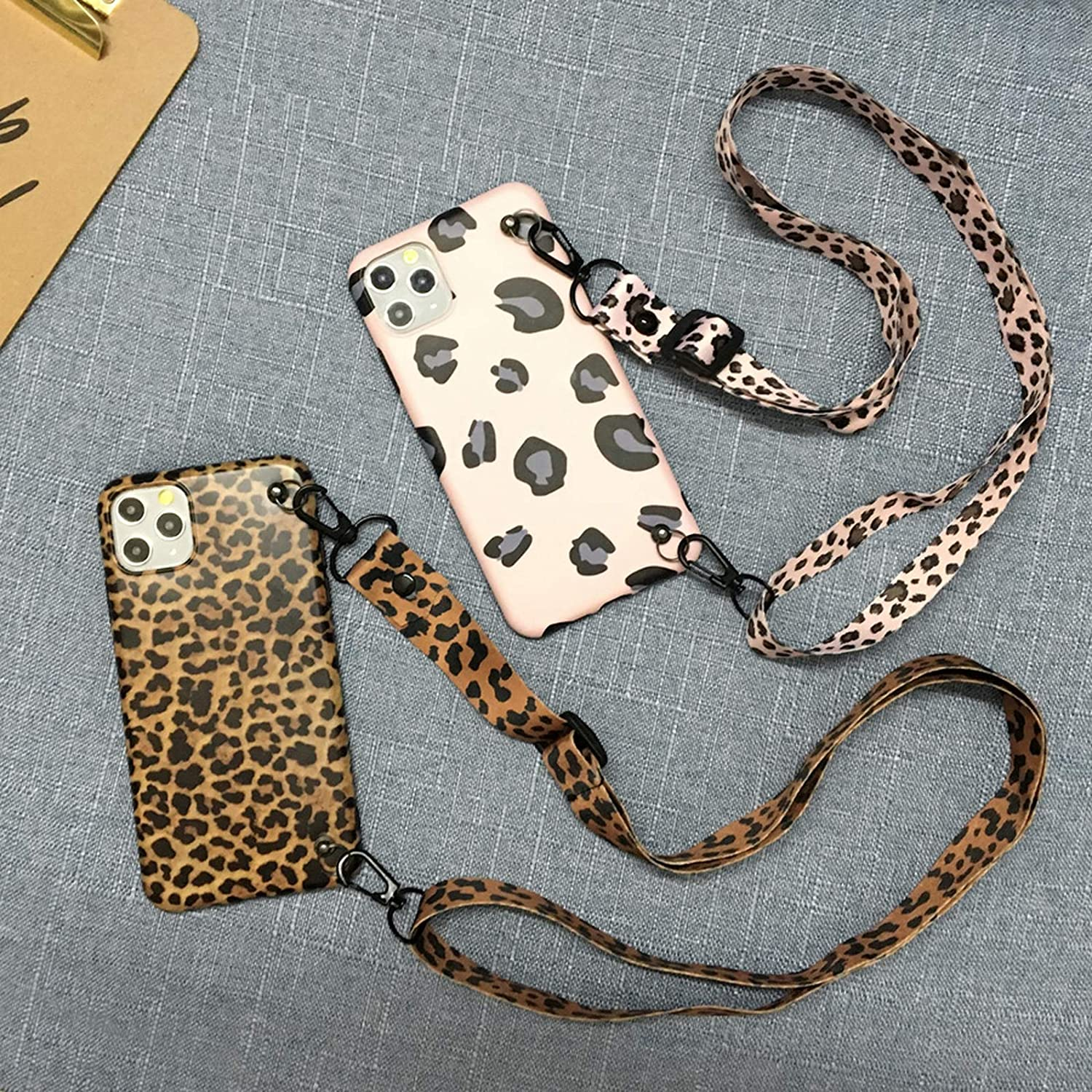 Sexy Leopard Print Crossbody Case for Samsung Galaxy S20 Ultra S8 S9 S10 S20 Note 20 8 9 10 Plus Shoulder Lanyard Soft Tpu-Style2-Brown-For S20 Plus