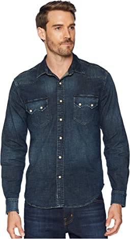Long Sleeve Sawtooth Denim Western Shirt
