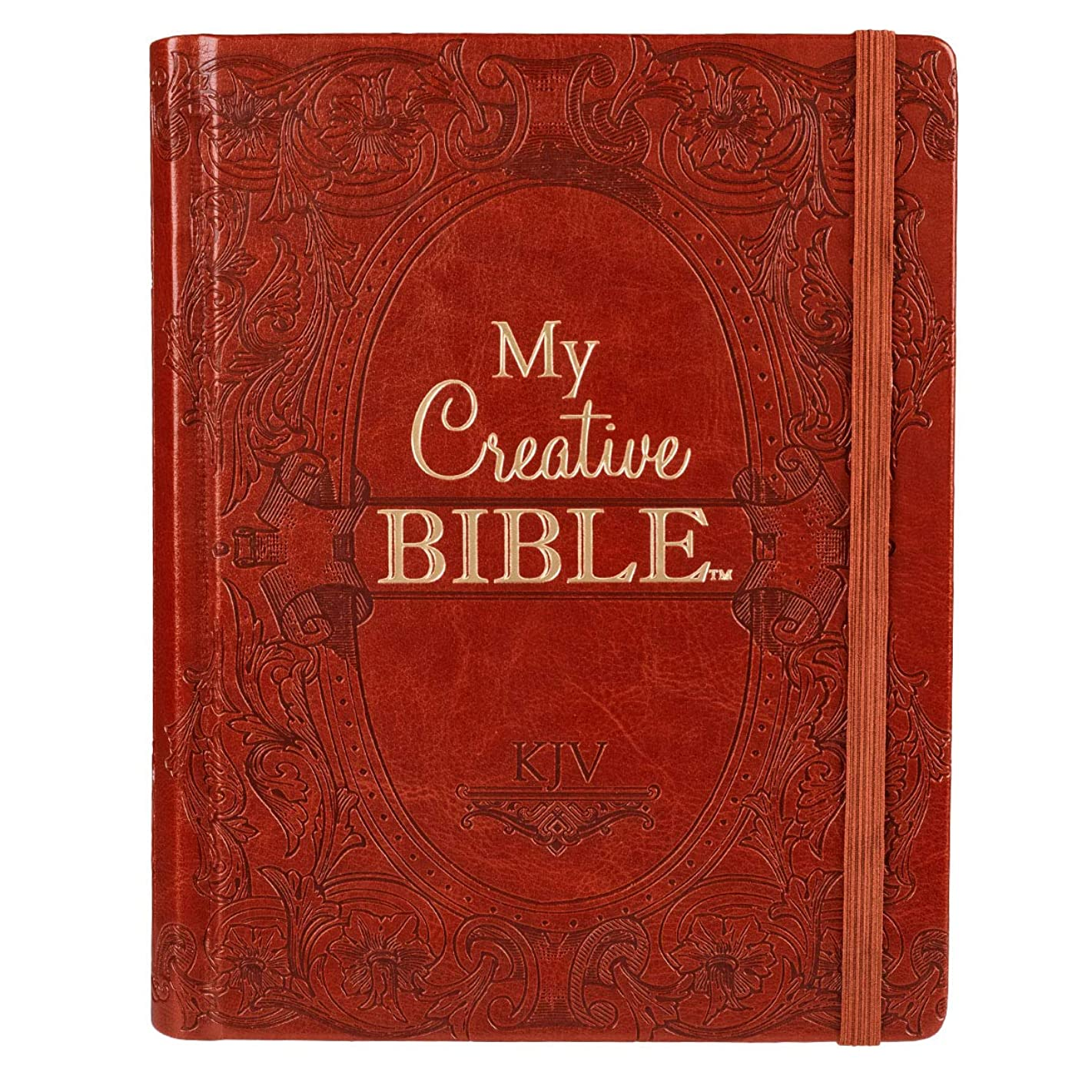 Holy Bible: My Creative Bible KJV: Tan Hardcover Bible for Creative Journaling