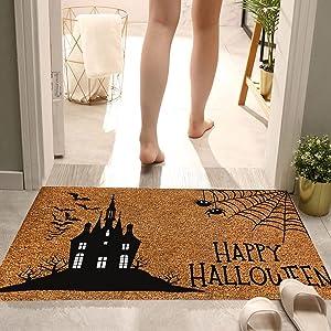 Celendi 1PC Halloween Doormat Blanket Welcome Home Front Door Decorations 23.6