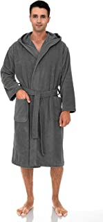 Men's Hooded Robe, Cotton Terry Cloth Bathrobe