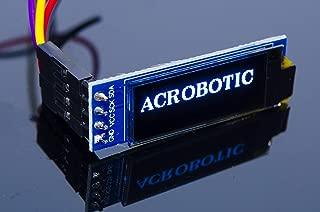 "ACROBOTIC 0.91"" White I2C 128×32 OLED LCD Display Module for Arduino, ESP8266, MSP420, STM32, 8051, Raspberry Pi LED Screen SSD1306"