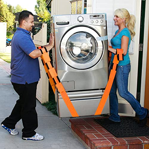 Moving Straps and Lifting System Shoulder Straps Lifting Belt Adjustable With Anti-slip Gloves Feel Lighter Over 50/% Easy to Carry Refrigerator Washing Machine or any Heavy Objects Mattress Weight up to 800Lbs