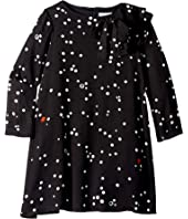 Lanvin Kids - Long Sleeve Polka Dot Dress with Ruffle Detail (Little Kids/Big Kids)