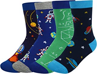 Boy's Novelty Funny Cotton Socks Crazy Space Food Shark Christmas Design Gift Box