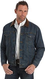 Wrangler Men's Concealed Carry Blanket Lined Denim Jacket, Vintage Wash, XXL