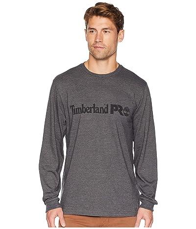 Timberland PRO Cotton Core Long Sleeve T-Shirt w/ Logo (Dark Charcoal Heather) Men