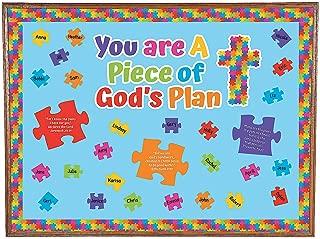 Fun Express Piece of God's Plan Bulletin Board Set (48 Pieces) Educational Classroom Decorations