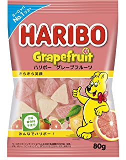 ハリボー グレープフルーツ 80g ×8袋