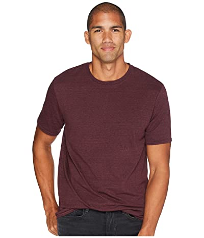 Threads 4 Thought Baseline Tri-Blend Crew Tee (Maroon Rust) Men