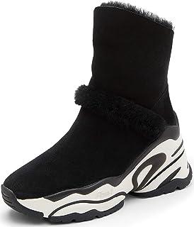 ASH Women's Blake Winter Warm Fur Shearling with Calf Suede high Platform Sneaker Snow Boots