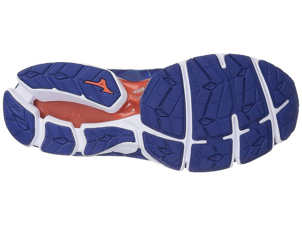 Mizuno Wave Sky 2 (Directoire Blue/Cherry Tomato) Men's Running Shoes