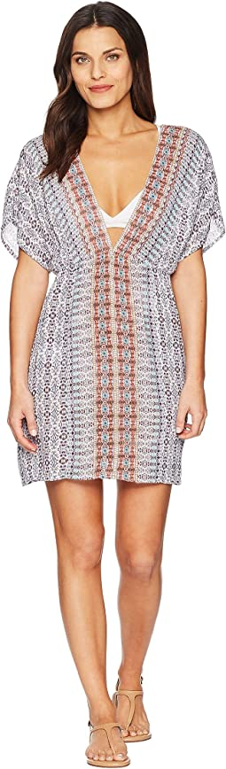 Sorrento Embellished Tunic Dress Cover-Up