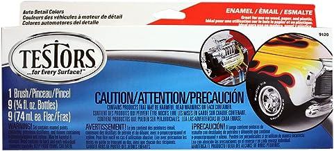 Testors Auto Detail Enamel Paint Set, .25 oz bottles,Multico