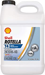 Shell Rotella T4 Triple Protection Conventional 15W-40 Diesel Engine Oil (2.5 Gallon, Single Pack)