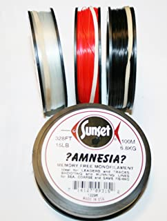 Amnesia Sunset Memory Free Monofilament - 15lb - Red - 100m