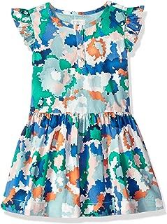 Gymboree Girls' Big Ruffle Sleeve Casual Woven Dress