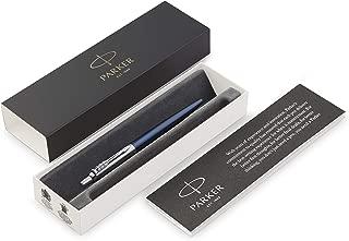 Parker Jotter Ballpoint Pen, Royal Blue with Chrome Trim, Medium Point, Blue Ink, Gift Box