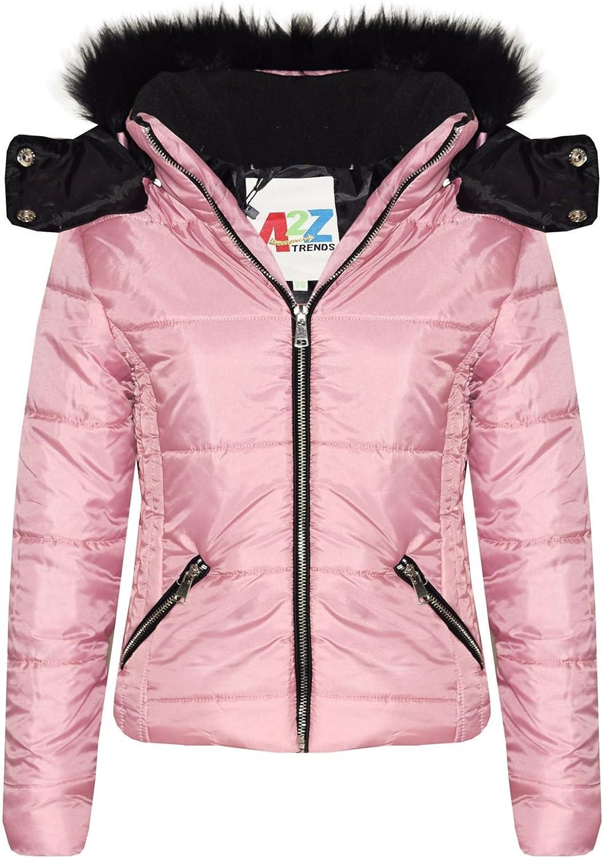 Girls Alternative dealer Jacket Kids Cropped Padded Puffer Warm Bubble Collar T Fur Tampa Mall