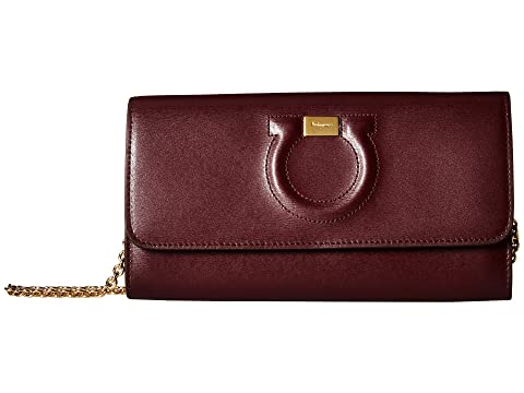 Salvatore Ferragamo Gancio City Leather Wallet on A Chain