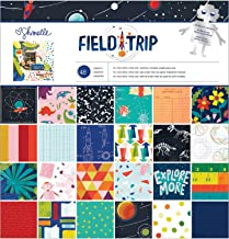 """American Crafts Shimelle Field Trip 12""""x12"""" Paper Pad 48 Sheets 352205"""