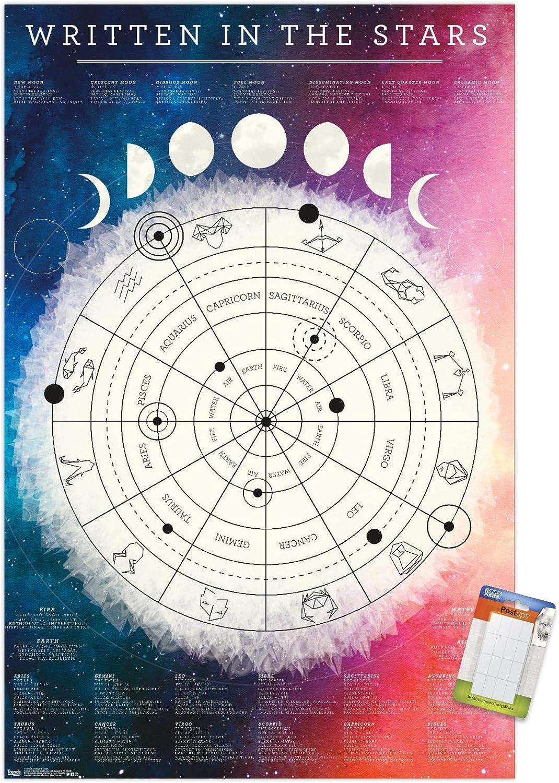 Amazon.com Trends International Astrological Chart Wall Poster ...