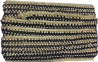 Gold and Black Motif Work Stone Work Border by 9 Yard - Gold Gota Patti Lace,Glass Beads,Stone Work Bollywood Sari,Wedding Saree Border Embroidered Ribbons Indian Trim Embellishmets