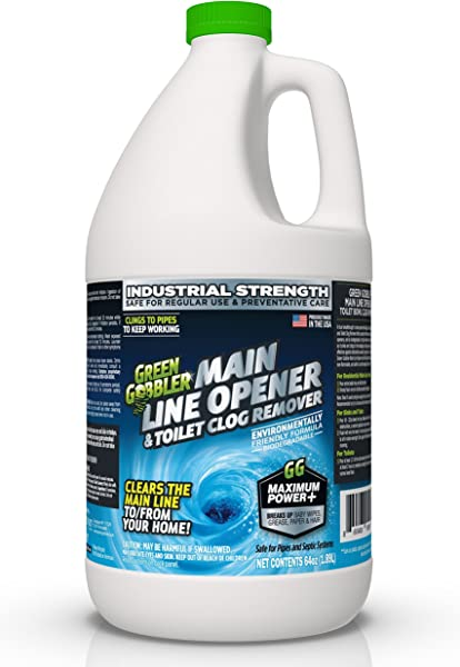 Green Gobbler Ultimate Main Drain Opener Drain Cleaner Hair Clog Remover 64 Oz Main Lines Sinks Tubs Toilets Showers Kitchen Sinks