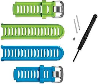 Garmin 010-11251-23 Bracelets de remplacement pour Forerunner 910XT Bleu/Vert