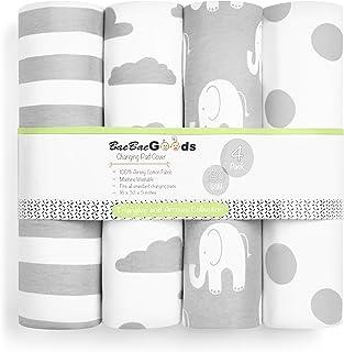 Changing Pad Cover – Premium Baby Changing Pad Covers 4 Pack – Boy or Girl Changing Pad Cover – Pure Cotton Machine Washab...