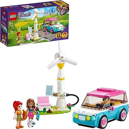 LEGO Friends 41443 LaVoitureElectriqued'Olivia, Jeu de Construction avec Mini Poupées, Eco-éducation pour Enfant de 6 Ans et +