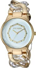 Steve Madden Women's Faceted Face Curb Chain Link Watch SMW229