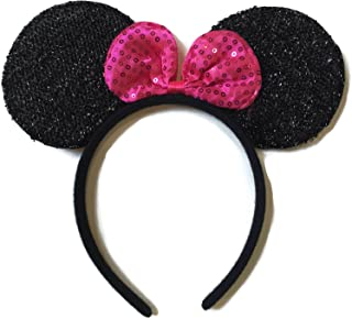 Rush Dance Cute Mouse Shaped Birthday Party Favor Bow Accessories Headband