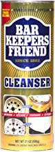 Bar Keepers Friend Powder Cleanser (21 oz - 4-pack) - Multipurpose Cleaner & Stain Remover - Bathroom, Kitchen & Outdoor Use - For Stainless Steel, Aluminum, Brass, Ceramic, Porcelain, Bronze and More