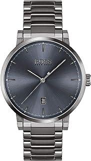Hugo Boss Men's Blue Dial Ionic Plated Grey Steel Watch - 1513793
