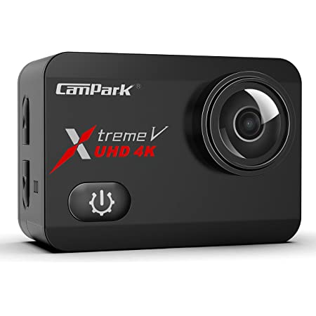 Campark X30 Native 4K 60fps Action Camera 20MP with EIS Anti Shake Touch Screen Wi-Fi Waterproof Camera 40m with 2 1350mAh Batteries, 1 Charger and Mounting Accessories
