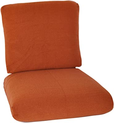 CushyChic Outdoors Terry Slipcovers for Deep Seat Cushions, 2 Piece in Rust - Slipcovers Only