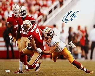 Ryan Kerrigan Autographed 16x20 Redskins Against 49ers Photo- JSA Authenticated