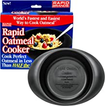 Rapid Oatmeal Cooker   Microwave Instant or Old-Fashioned Oats in 2 Minutes   Perfect for Dorm, Small Kitchen, or Office   Dishwasher-Safe, Microwaveable, BPA-Free - Black (1 pack)