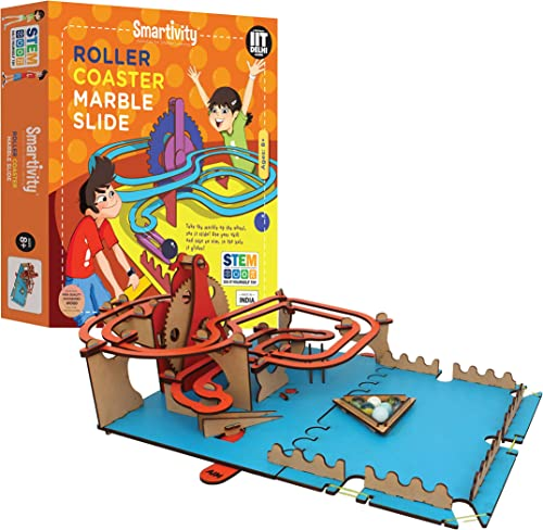 Smartivity Roller Coaster Marble Slide STEM STEAM Educational DIY Building Construction Activity Toy Game Kit, Easy I...