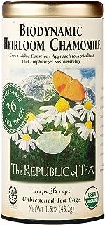 The Republic of Tea Biodynamic Heirloom Chamomile Herbal Tea, 36 Tea Bag Tin