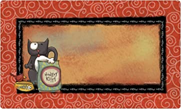 Drymate 12 by 20-Inch Cat Bowl with Place Mat in Fish Kitty Design