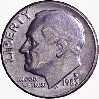 1983 D Roosevelt Dime 10C About Uncirculated